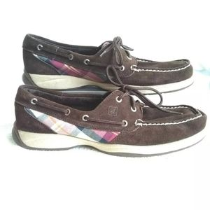 Sperry Top Sider Women Top Leather Sz 10  ,mauve/
